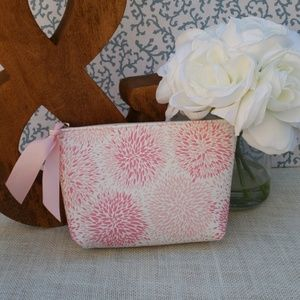 PINK AND WHITE COSMETIC BAG